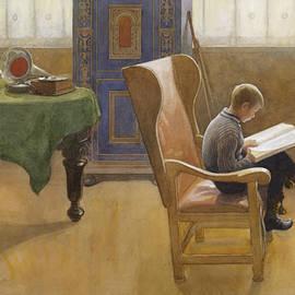 Esbjorn at the Study Corner - Carl Larsson