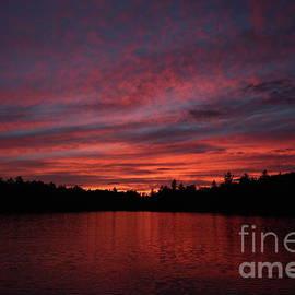 Neal Eslinger - Evening Fire on Lake Umbagog