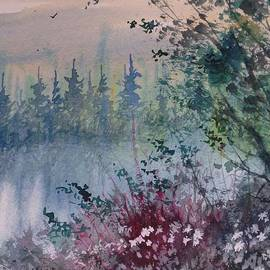 David K Myers - Evening Walk, Watercolor Painting