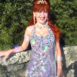 Exotic fashion dress. Designer Sofia Metal Queen