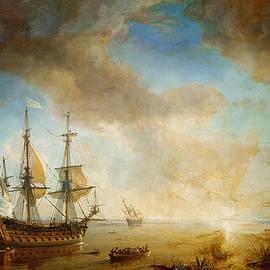 Expedition of Robert Cavelier de La Salle  - Jean Antoine Theodore Gudin