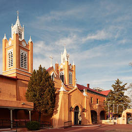 Silvio Ligutti - Facade of San Felipe de Neri Church in Old Town Albuquerque - New Mexico