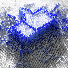 Facebook Like Logo In Pixels - Allan Swart