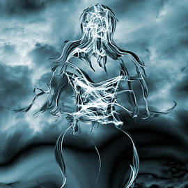 Abstract Angel Artist Stephen K - Facing the Storm