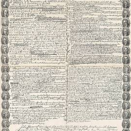 Facsimile of the original draft of the Declaration of Independence - American School