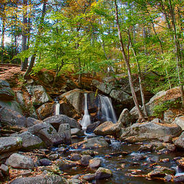 Jeff Folger - Fall colors over Trap Falls in Ashby Massachusetts