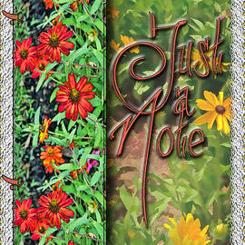 Larry Bishop - Fall Floral Note Card