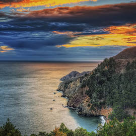 Jennifer Rondinelli Reilly - Fall sunset at Marin Headlands - Marin County