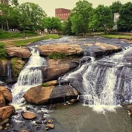 Kathy Barney - Falls Park Waterfalls in Greenville South Carolina