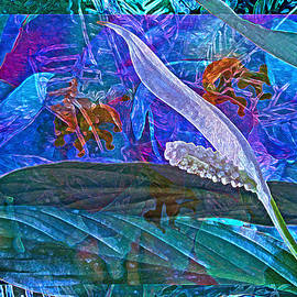 Lynda Lehmann - Fantasy with African Violets and Peace Lily 42
