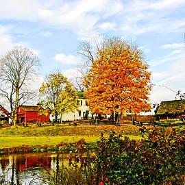 Susan Savad - Farm by Pond in Autumn