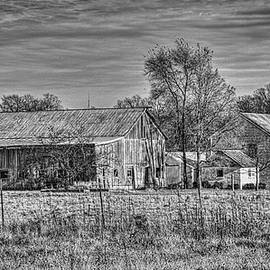 William Sturgell - Farm on State Route 36 in Black and White