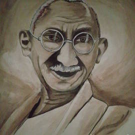 Artist Nandika  Dutt - Father of nation- Gandhi ji
