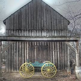 Jane Linders - Faust Park Chesterfield Barn wagon antique vintage wood