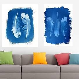 Jane Linders - Feather cyanotype home decor