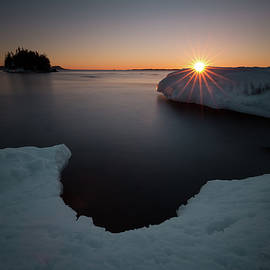 Jakub Sisak - February Sunrise in Sturgeon Bay