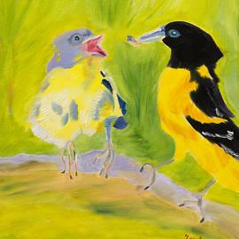 Meryl Goudey - Bird Picnic in the Sun