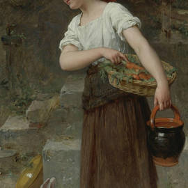 Feeding the Rabbits - Emile Munier
