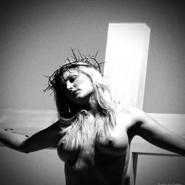 Ramon Martinez - Female Christ on Cross