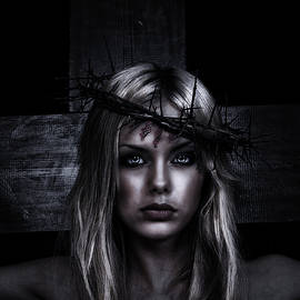 Ramon Martinez - Female Jesus Portrait in Dark Color