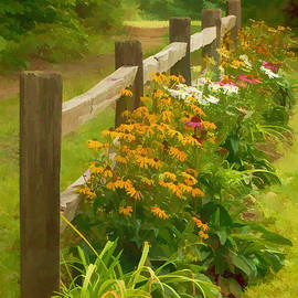 Stephen Anthony - Fence and Flowers Water Color