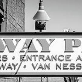 Fenway Park Sign Black and White Panoramic Photo - Paul Velgos