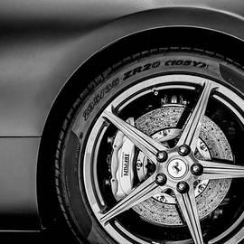 Ferrari Wheel Emblem -1526bw - Jill Reger