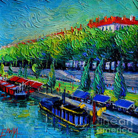 Mona Edulesco - Festive Barges On The Rhone River