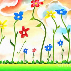 L Wright - Field Of Flowers