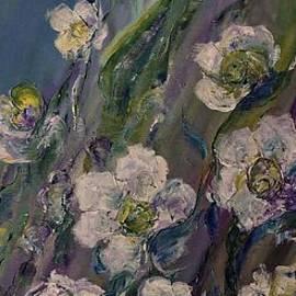 AmaS Art - Fields of White flowers