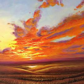 Rod Seel - Fiery Flint Hills Sky