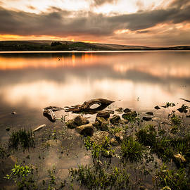 Daniel Kay - Fiery Sunset Over A Tranquil Lake.