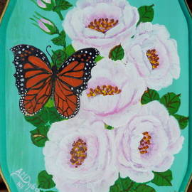 Anna Folkartanna Maciejewska-Dyba - Fine, Free Folk Art Roses