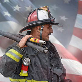 Jim Fitzpatrick - Fire Fighter at the  End of a Call