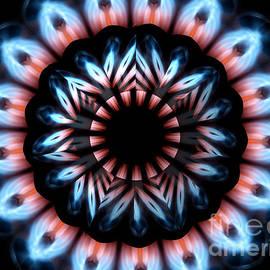 Rose Santuci-Sofranko - Fire Kaleidoscope Mandala Under Star Shaped Glass 2