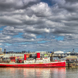 Kenneth Laurence  Neal - Fireboat on the Hudson