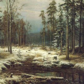 First Snow - Ivan Ivanovich Shishkin