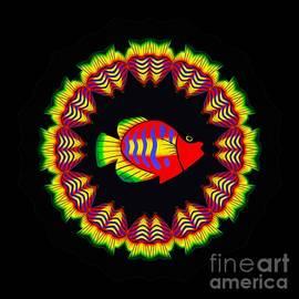 Kaye Menner - Fish Kaleidoscope by Kaye Menner