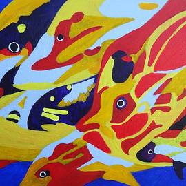 Karen J Jones - Fish Shoal Abstract 2