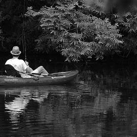 Roy Williams - Fisherman On Lady Bird Lake - Bw