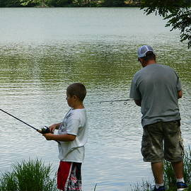 Arlane Crump - Fishing at Peaks of Otter, VA