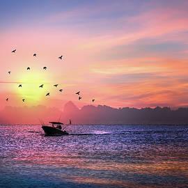 Debra and Dave Vanderlaan - Fishing Boat at Dawn