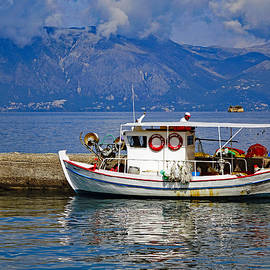 Richard Rosenshein - Fishing Boat Docked In Corfu Greece