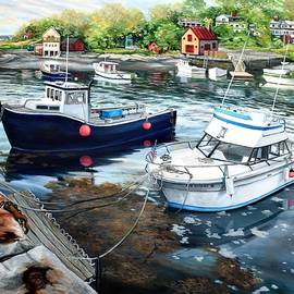 Eileen Patten Oliver - Fishing Boats In Lanes Cove Gloucester MA