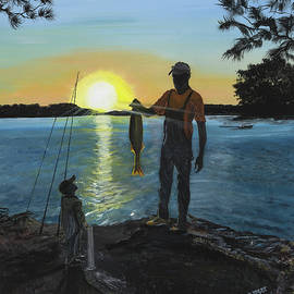 Donna Mann - Fishing with Dad