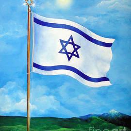 Flag of Israel. Land of Freedom