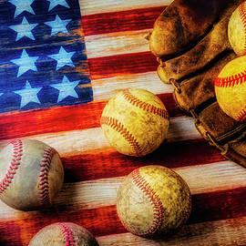 Flag With Baseballs - Garry Gay