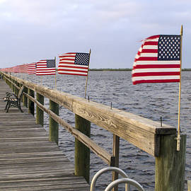 Sally Weigand - Flags on the Dock