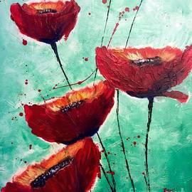 Aarti Bartake - Flaming Poppies