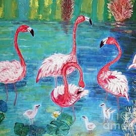 Vicky Tarcau - Flamingos Diptich Left